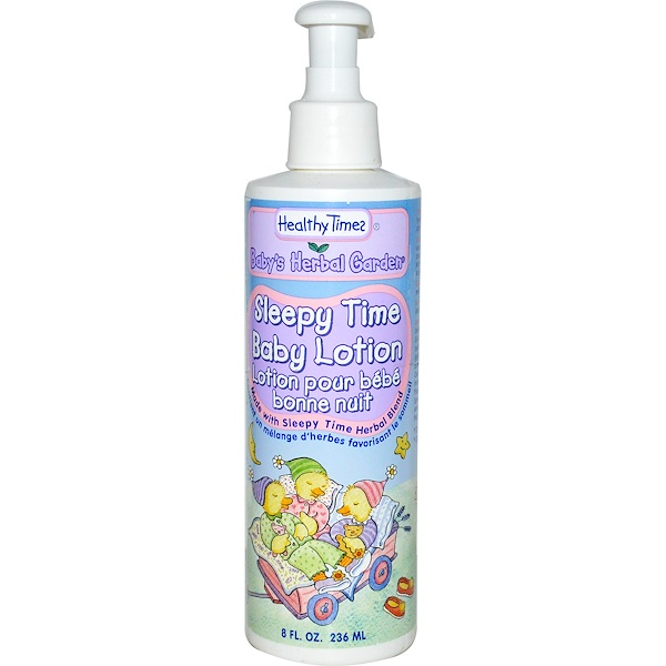 Healthy Times, Baby's Herbal Garden, Sleepy Time Baby Lotion, 8 fl oz (236 ml) (Discontinued Item)