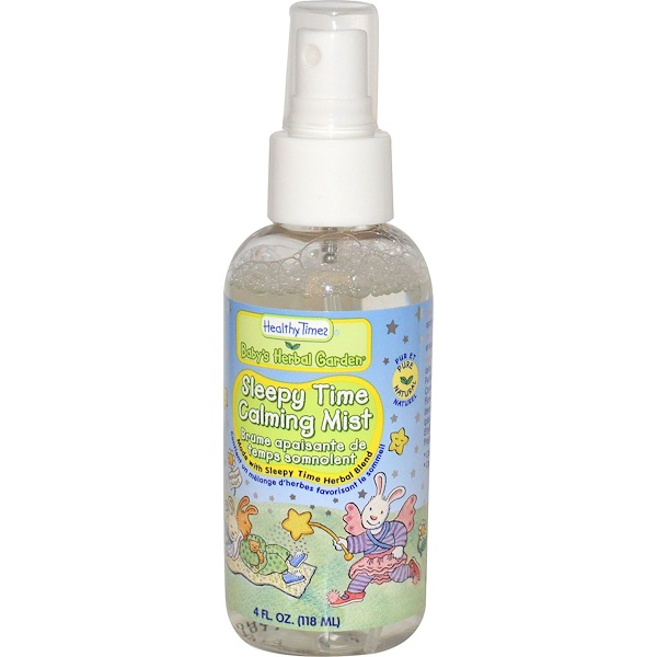 Healthy Times, Baby's Herbal Garden, успокаивающий аэрозоль Sleepy Time Calming Mist, 4 жидких унции (118 мл) (Discontinued Item)