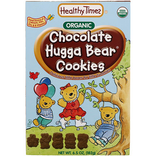 Healthy Times, Organic, Hugga Bear Cookies, Chocolate, 6.5 oz (182 g)