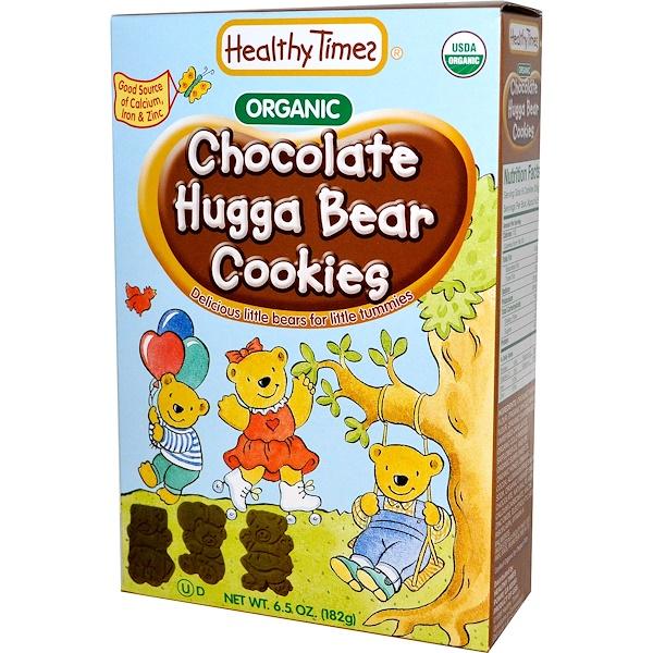 Healthy Times, Organic Hugga Bear Cookies, Chocolate, 6.5 oz (182 g)