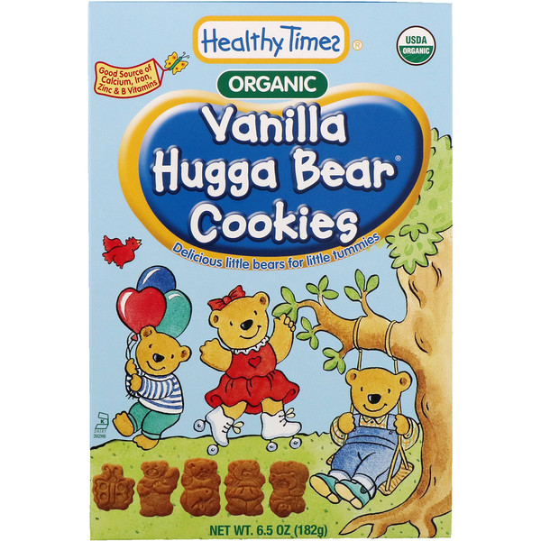 Healthy Times, Organic, Hugga Bear Cookies, Vanilla, 6.5 oz (182 g) (Discontinued Item)