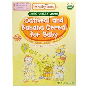 Хэлси Таймс, Organic Cereal for Baby, Oatmeal and Banana, 8 oz (227 g) отзывы