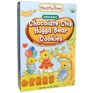 Healthy Times, Organic, Hugga Bear Cookies, Chocolate Chip, 6.5 oz (182 g)