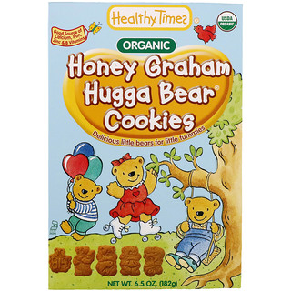 Healthy Times, Hugga Bear Cookies, Honey Graham, 6.5 oz (182 g)