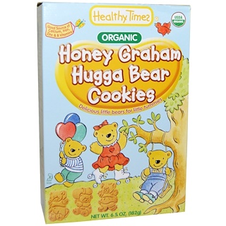 Healthy Times, Печенье Hugga Bear, медовое печенье, 6.5 унций (182 г)