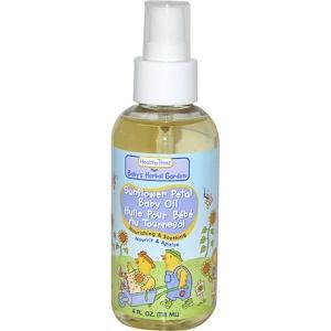 Хэлси Таймс, Baby's Herbal Garden, Baby Oil, Sunflower Petal, 4 fl oz (118 ml) отзывы