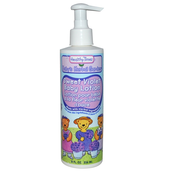 Healthy Times, Baby's Herbal Garden, Baby Lotion, Sweet Violet, 8 fl oz (236 ml) (Discontinued Item)