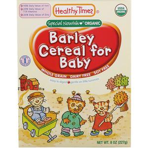 Хэлси Таймс, Organic Cereal for Baby,  Barley,  8 oz (227 g) отзывы