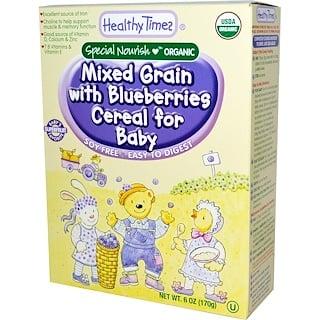 Healthy Times, Натуральная детская смесь зерен и черники, 6 унций (170 г)