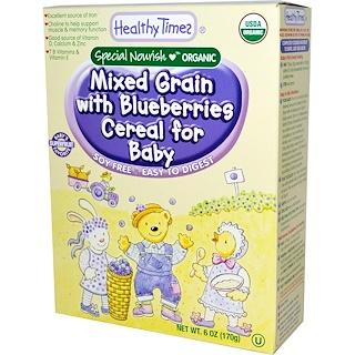 Healthy Times, Cereal para bebé mezcla de granos orgánicos con arándanos, 6 oz (170 g)