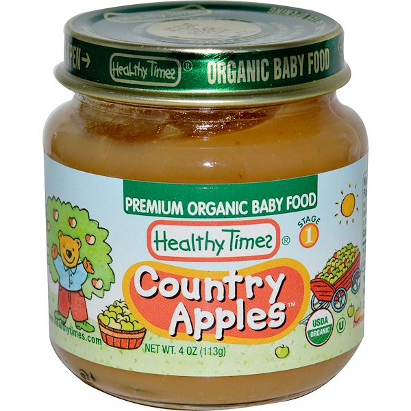 Healthy Times, Premium Organic Baby Food, Country Apples, Stage 1, 4 oz (113g)  (Discontinued Item)
