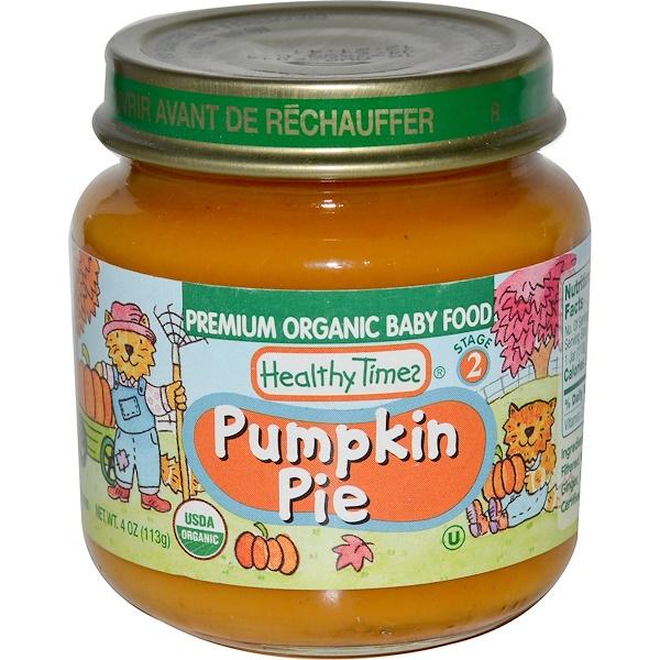 Healthy Times, Premium Organic Детское питание, Тыквенный пирог, этап 2 4 унции (113 г) (Discontinued Item)