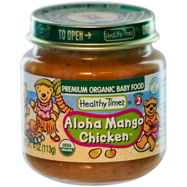 Healthy Times, Premium Organic Baby Food, Aloha Mango Chicken, Stage 2, 4 oz (113 g) (Discontinued Item)