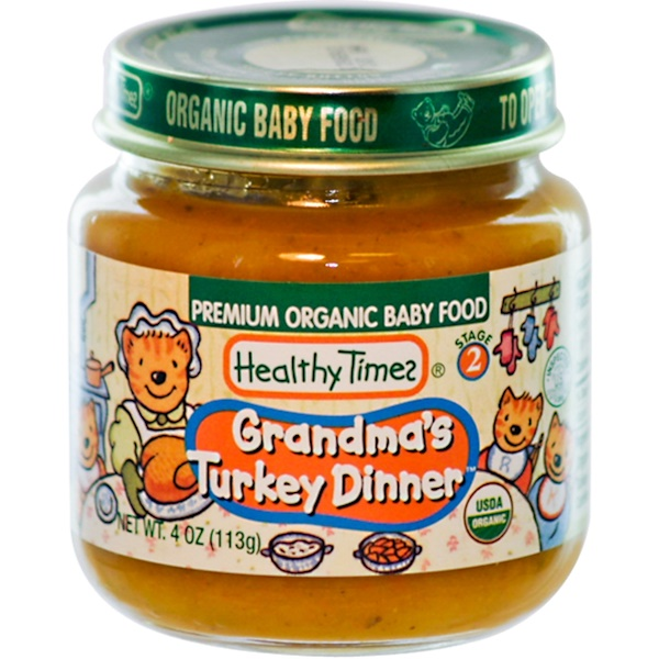 Healthy Times, Premium Organic Baby Food, Grandma's Turkey Dinner, Stage 2, 4 oz (113 g) (Discontinued Item)
