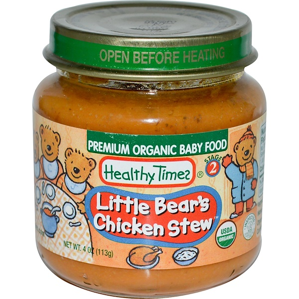 Healthy Times, Premium Organic Baby Food, Little Bear's Chicken Stew, Stage 2, 4 oz (113 g) (Discontinued Item)