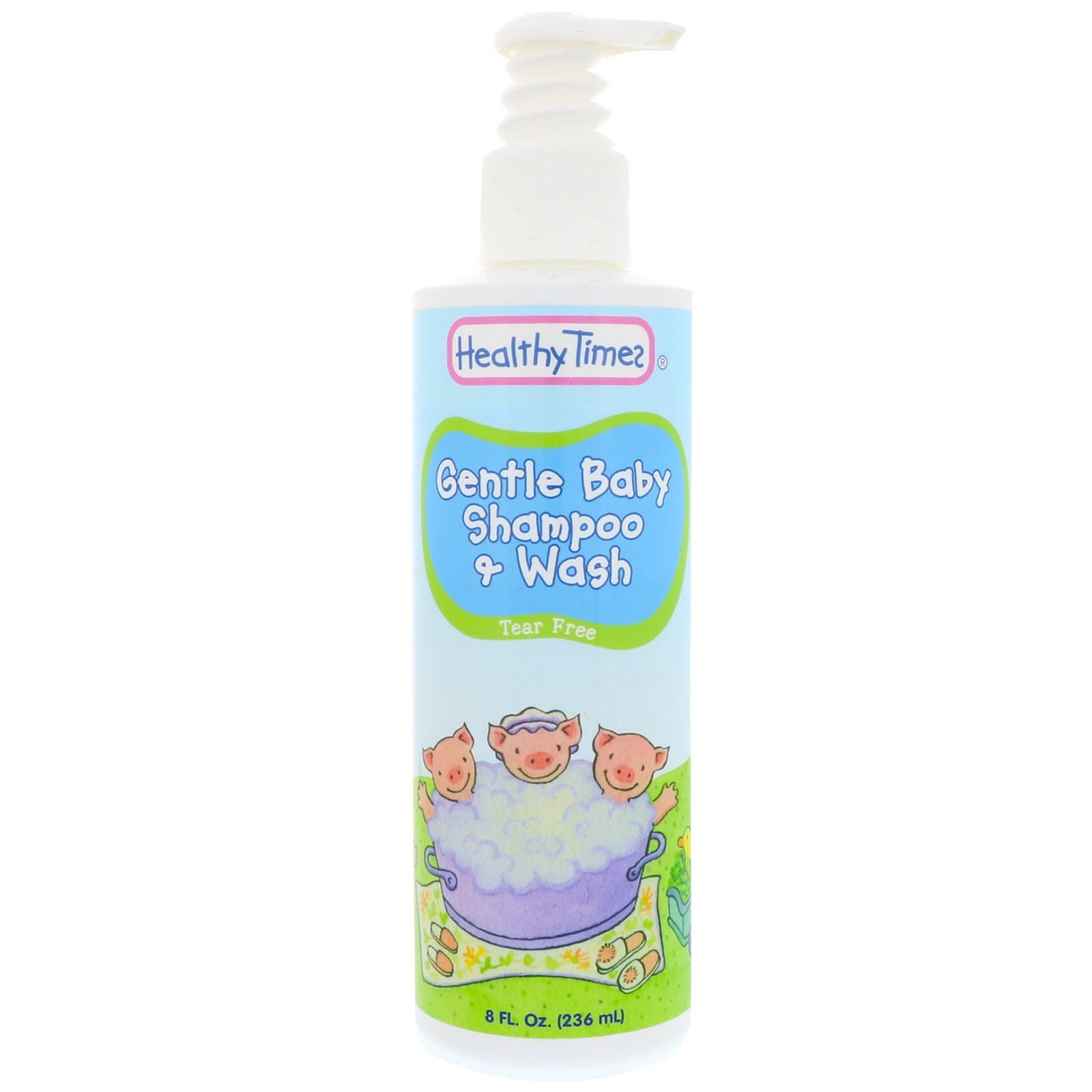 Healthy Times, Нежный малыш, Шампунь и средство для купания, Без слез, 8 унций (236 мл)
