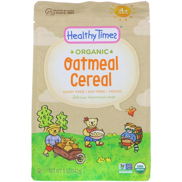 Healthy Times, Organic, Oatmeal Cereal, 4+ Months, 5 oz (142 g) (Discontinued Item)