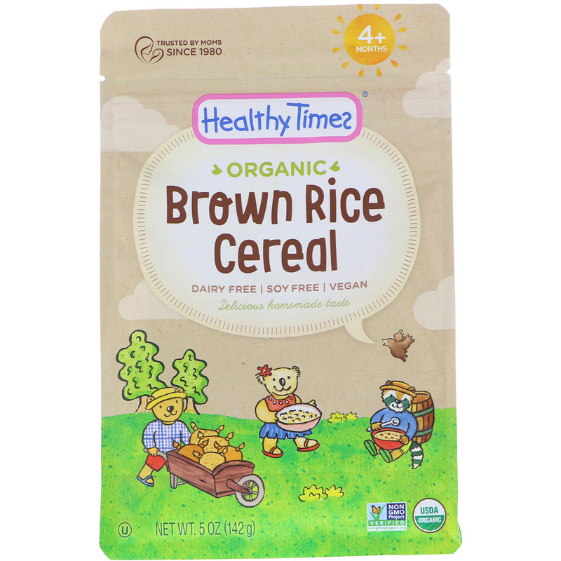 Organic, Brown Rice Cereal, 4+ Months, 5 oz (142 g)