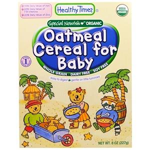 Хэлси Таймс, Organic Cereal for Baby, Oatmeal, 8 oz (227 g) отзывы