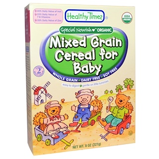 Healthy Times, Organic Cereal for Baby, Mixed Grain, 8 oz (227 g)