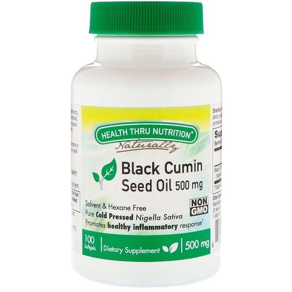 Health Thru Nutrition, Black Cumin, Seed Oil, 500 mg, 100 Softgels
