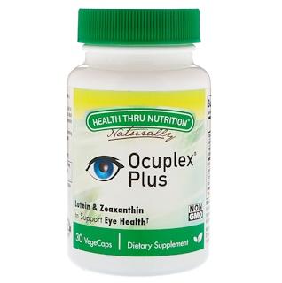 Health Thru Nutrition, Ocuplex Plus, 30 вегетарианских капсул