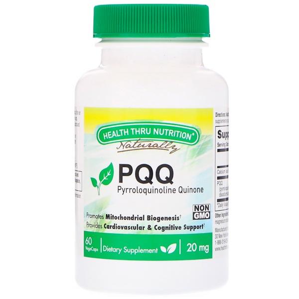 Health Thru Nutrition, 吡咯喹啉醌 (PQQ),20 毫克,60 粒素食膠囊