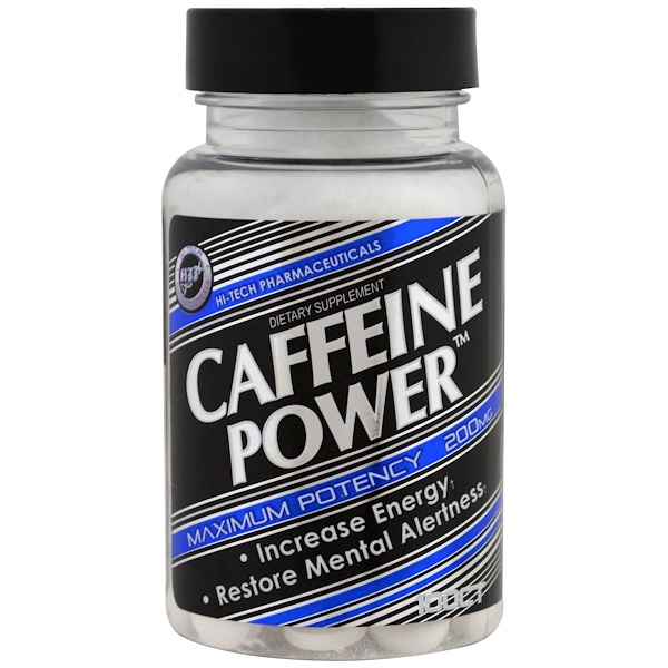 Hi Tech Pharmaceuticals, Caffeine Power, 200 mg, 100 Tablets (Discontinued Item)
