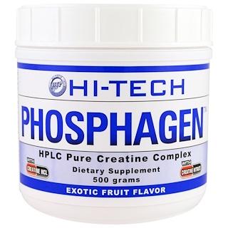 Hi Tech Pharmaceuticals, Phosphagen, sabor a fruta exótica, 500 g