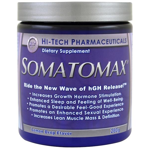 Hi Tech Pharmaceuticals, Somotomax,生長激素釋放劑,檸檬糖味,280克