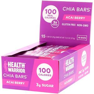 Хэлс Вариор, Chia Bars, Acai Berry, 15 Bars, 0.88 oz (25 g) Each отзывы покупателей