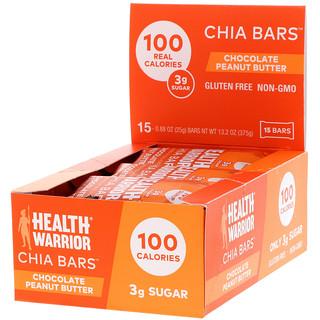 Health Warrior, Inc., Chia Bars, Chocolate Peanut Butter, 15 Bars, 13.2 oz (375 g)