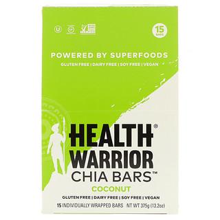 Health Warrior, Inc., チアバー、ココナッツ、15本、13.2オンス(375g)
