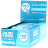 Health Warrior, Chia Bars, Caramel Sea Salt, 15 Bars, 0.88 oz (25 g)