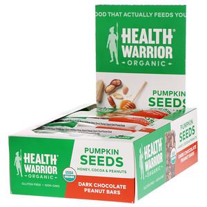 Хэлс Вариор, Pumpkin Seeds, Dark Chocolate Peanut, 12 Bars, 14.8 oz (420 g) отзывы
