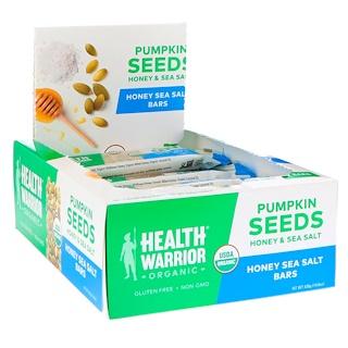 Health Warrior, Inc., カボチャの種、ハチミツ海塩、12本、14.8 oz (420 g)