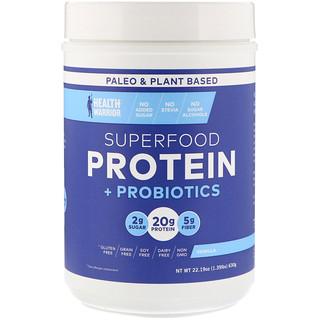 Health Warrior, Inc., Superfood Protein + Probiotics, Vanilla, 1.39 lbs (630 g)