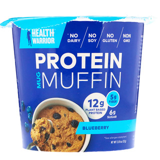 Health Warrior, Inc., Protein Mug Muffin, Blueberry, 2.01 oz (57 g)