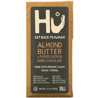Купить Hu Dark Chocolate, Almond Butter + Puffed Quinoa, 2.1 oz (60 g)