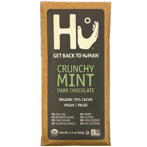 Crunchy Mint Dark Chocolate, 2.1 oz (60 g)