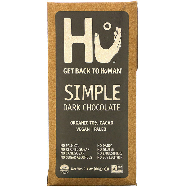 Simple Dark Chocolate, 2.1 oz (60 g)