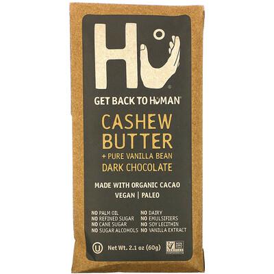 Hu Dark Chocolate, Cashew Butter + Pure Vanilla Bean, 2.1 oz (60 g)