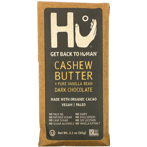 Hu, Dark Chocolate, Cashew Butter + Pure Vanilla Bean, 2.1 oz (60 g)