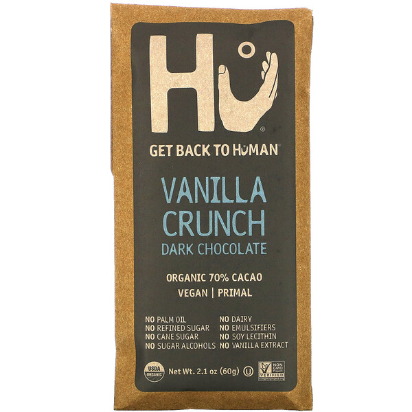 Dark Chocolate, Vanilla Crunch, 2.1 oz (60 g)