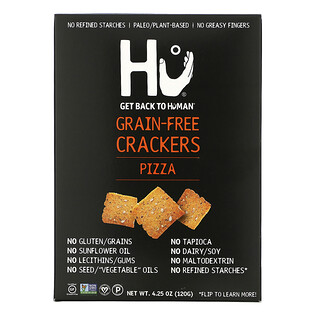 Hu, Grain-Free Crackers, Pizza, 4.25 oz (120 g)