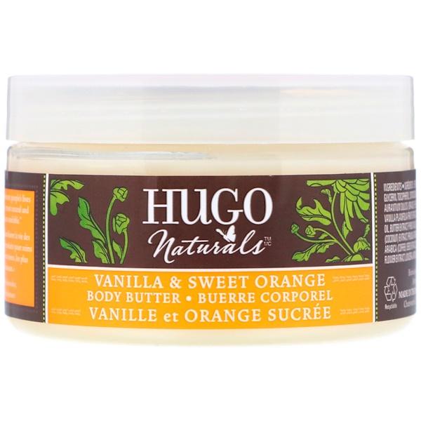 Hugo Naturals, Body Butter, Vanilla & Sweet Orange, 4 oz (113 g) (Discontinued Item)