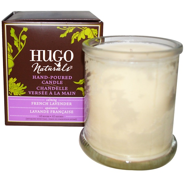 Hugo Naturals, Hand-Poured Candle, French Lavender, 1 Candle (Discontinued Item)