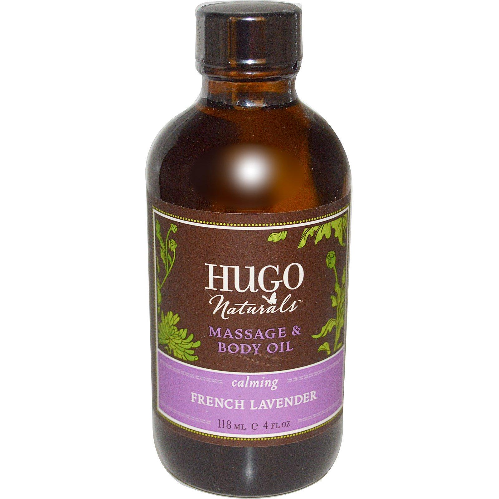 Hugo Naturals, Массажное Масло для Тела, Французская Лаванда 4 жидких унции (118 мл)