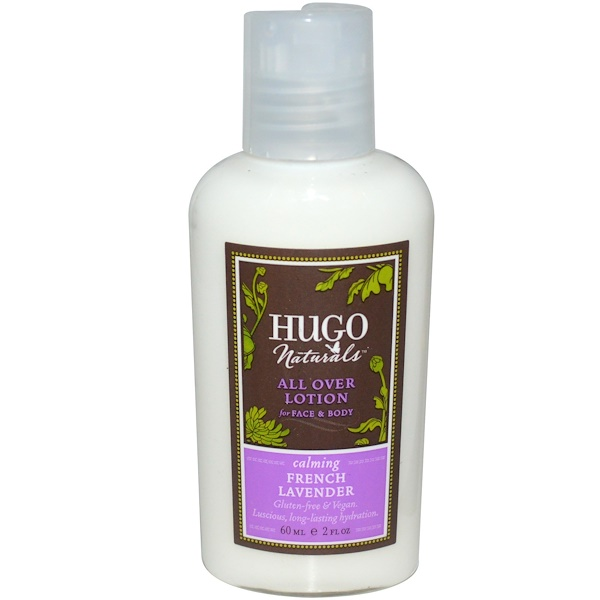 Hugo Naturals, All Over Lotion, French Lavender, 2 fl oz (60 ml) (Discontinued Item)
