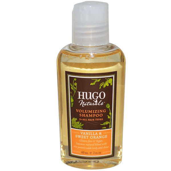 Hugo Naturals, Volumizing Shampoo, Vanilla & Sweet Orange, 2 fl oz (60 ml) (Discontinued Item)